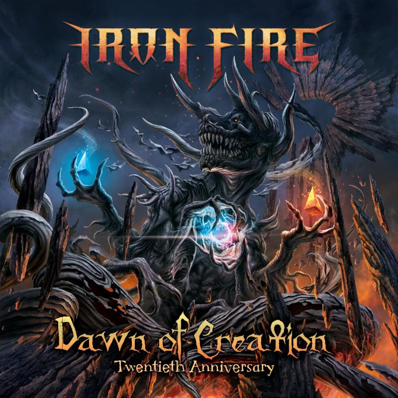 Iron Fire - Dawn Of Creation - Twentieth Anniversary - promo cover pic - 2018 - #MO333ILMGG
