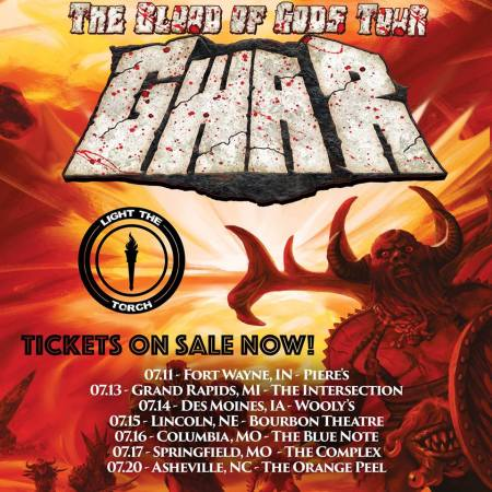 GWAR - July 2018 Tour flyer - #33MO332ILMG