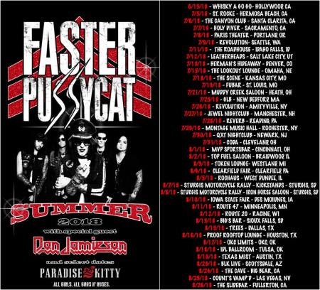 Faster Pussycat - promo flyer - Summer 2018 - Tour - #333MO333ILMG