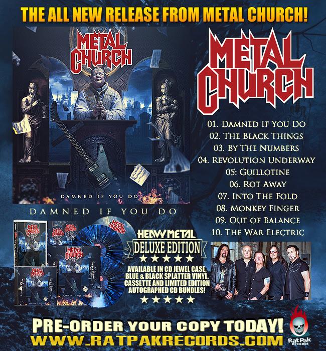 Metal Church - Damned If You Do - album flyer - 2018 - #1MO333ILG