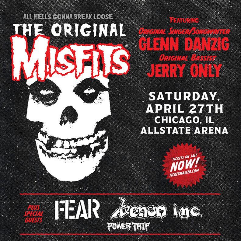 Misfits - April 27 - 2019 - Chicago concert flyer - #33MO9993