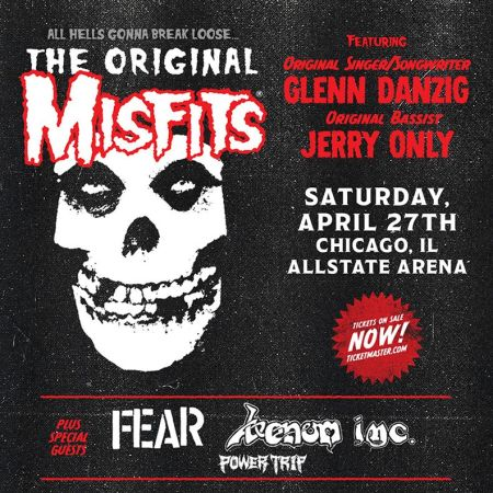 Misfits - April 27 - 2019 - Chicago concert flyer - #33MO9993