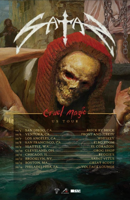 Satan Cruel Magic - tour flyer - October 2018 - #33MO737ILGMS -