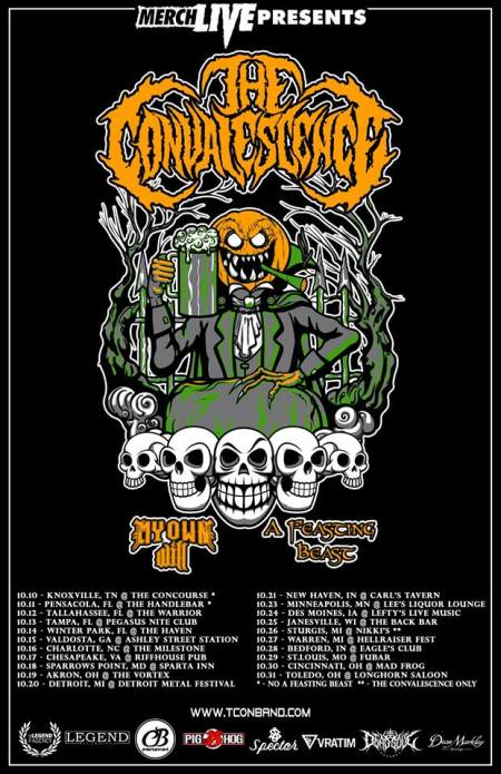 The Convalescence - October Tour Flyer 2018 - #33MOILN