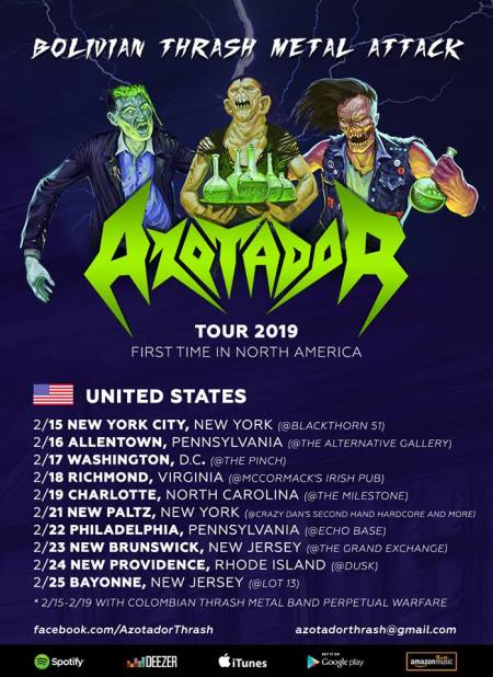 azotador - tour flyer - february 2019 - #33ilmg333mosmo